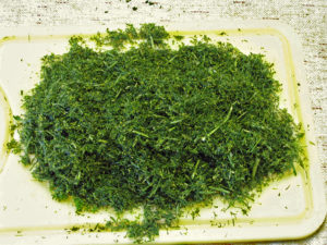 finely chopped dill